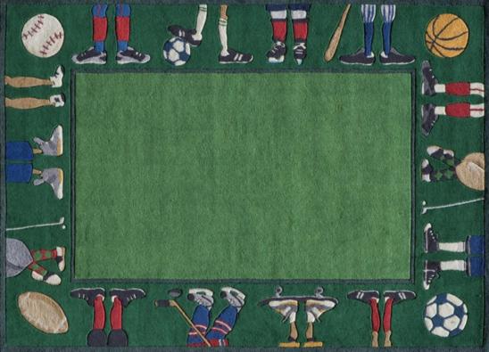 grass sports kids rug