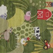 farm land kids rug