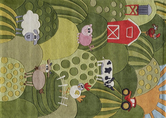 farm land kids rug