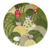 farm land round kids rug