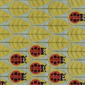 ladybug family kids rug