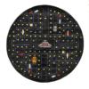 arcade black round kids rug