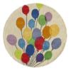 balloons round kids rug