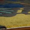 hand print grey kids rug