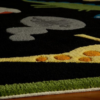 dinosaur black kids rug