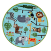 safari blue round kids rug