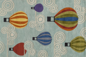 Hot Air Balloons Kids Rug