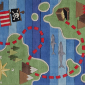 pirate route kids rug