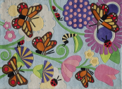Butterfly Kids Rug