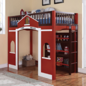 Fire House Twin loft bed