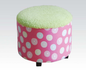 pink kids chair ottoman