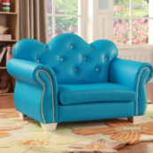 celine kids loveseat chair in blue