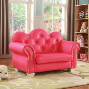 celine kids loveseat chair in pink