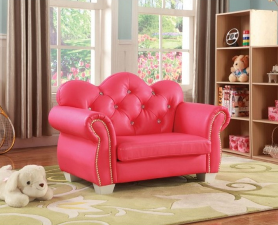 celine kids loveseat chair in pink