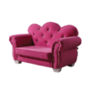 Celine Kids Loveseat Chair in Pink Fabric