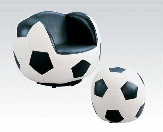soccer kids chair with ottoman
