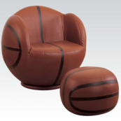 basketball kids chair with ottoman