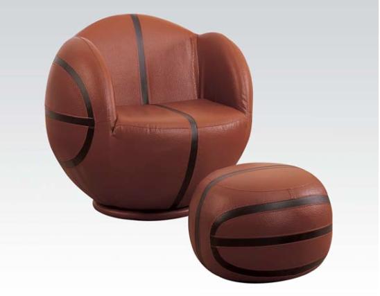 basketball kids chair with ottoman