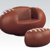 football kids chair with ottoman