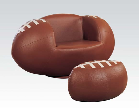 football kids chair with ottoman