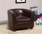 chocolate leatherette kids chair