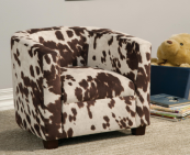 cow print kids chair