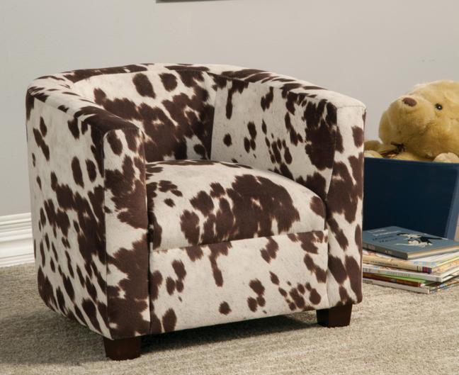Cow Print Kids Chair