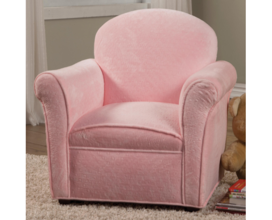 plush pink kids chair