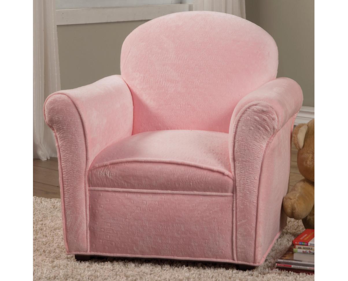 Plush Pink Kids Chair