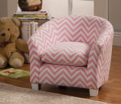 pink zig zag chevron kids chair