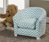 blue zig zag kids chair