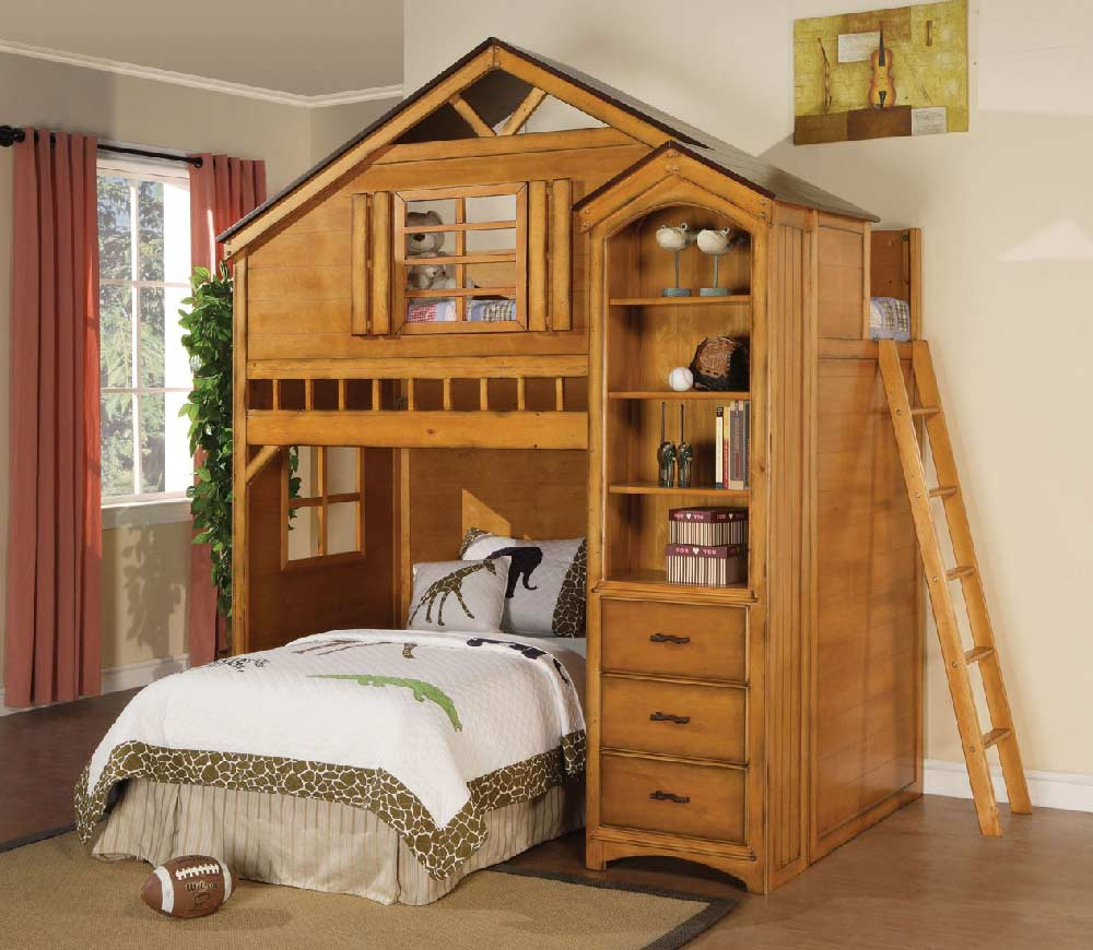 treehouse twin loft bed kids furniture in los angeles