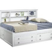 Vicki Lounger Bed in White