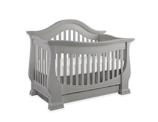 baby appleseed davenport 4 in 1 convertible crib in moon grey