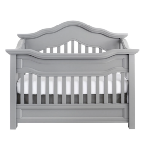 baby appleseed millbury convertible crib in moon grey