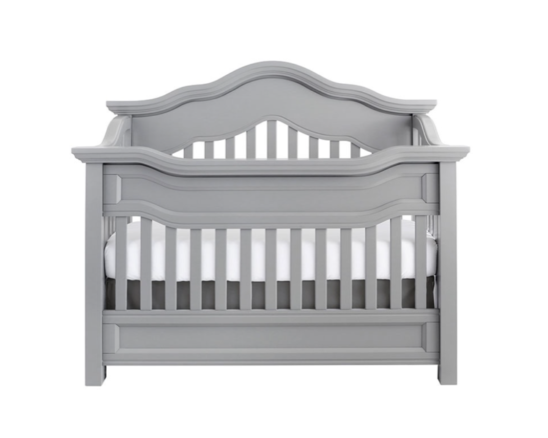 baby appleseed millbury convertible crib in moon grey