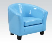 cady blue pu kids chair