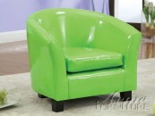 cady green pu kids chair