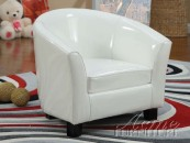 cady white pu kids chair