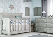 karisma convertible crib in rustic finish