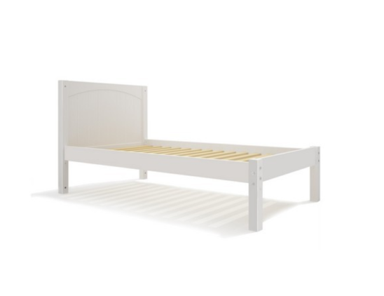 maxtrix panel bed in white