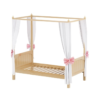 maxtrix panel bed with canopy in natural finish