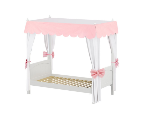 maxtrix panel bed with canopy in white