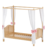 maxtrix round panel canopy bed in natural finish
