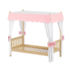maxtrix slatted panel canopy bed in natural