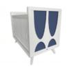 skylar crib navy blue