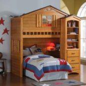 treehouse loft bed rustic oak