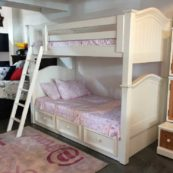 Country Hill Round Top American Made Bunk Bed
