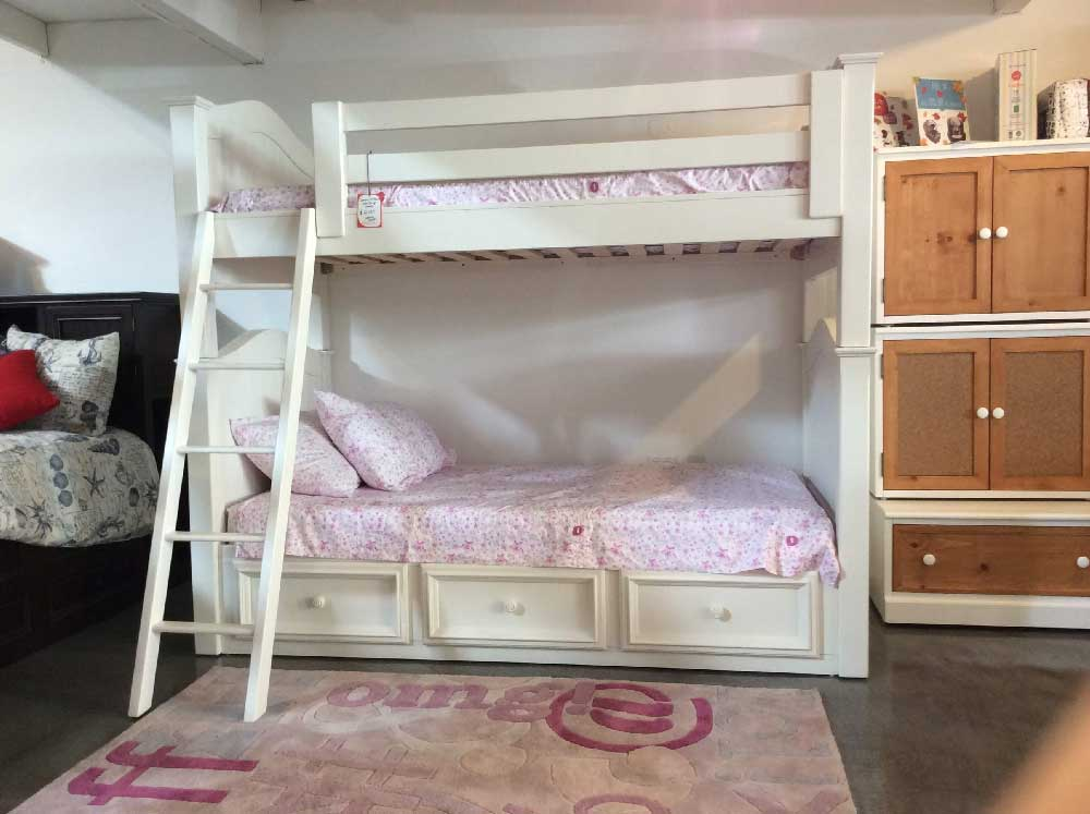 Country hill collection bunk bed kids furniture in los for American made beds