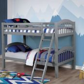 Tony Twin over Twin Bunk Bed in Gray